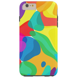 Circus Colors Chaos Abstract Art Pattern Tough iPhone 6 Plus Case