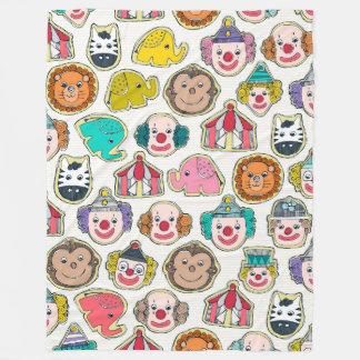 circus cookies multi fleece blanket