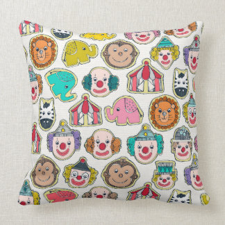 circus cookies multi throw pillow