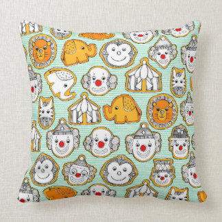 circus cookies throw pillow