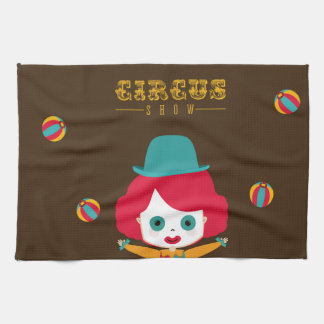 circus design kitchen towel