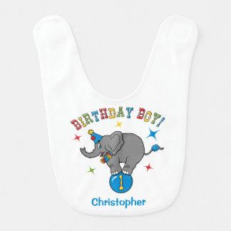 Circus Elephant 1st Birthday Bib