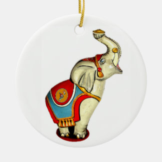 Circus Elephant Ceramic Ornament