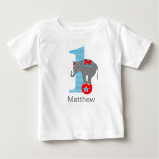 Circus Elephant First Birthday Tshirt Personalized