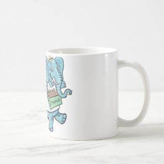 Circus Elephant selling peanuts Coffee Mug
