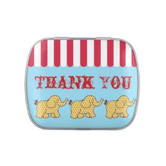 Circus Elephant Thank You Candy Tin
