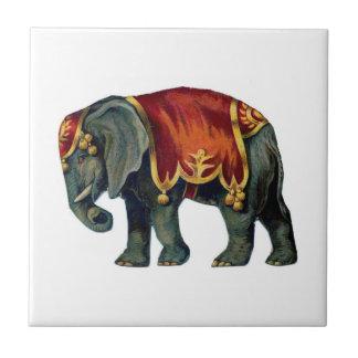 Circus elephant tile
