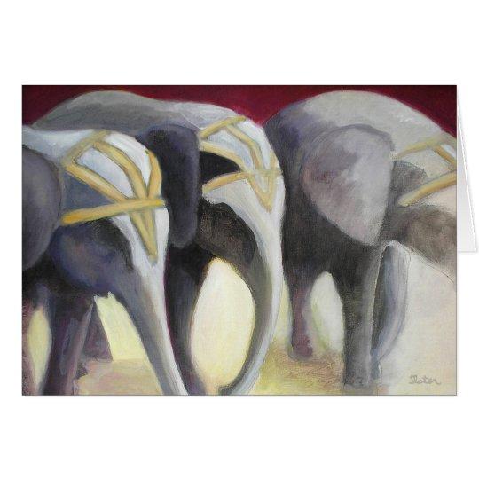 Circus Elephants Card