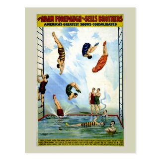 Circus Forepaugh and Sells vintage divers Postcard