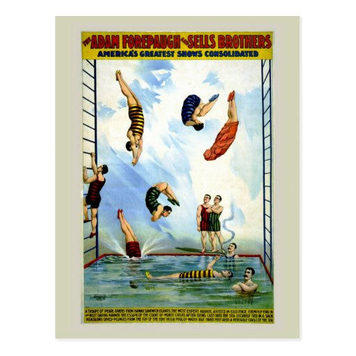Circus Forepaugh and Sells vintage divers Postcards