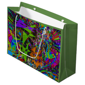"""""""Circus Frenzy"""" Large Glossy Gift Bag"""