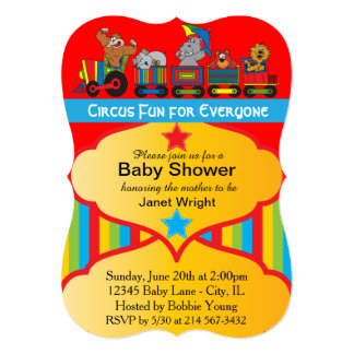 Circus Fun Baby Shower Invitation