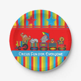 Circus Fun Baby Shower Paper Plate