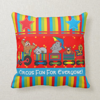 Circus Fun for Everyone Nursery Theme for Baby Throw Pillow