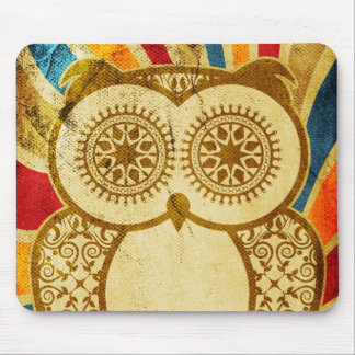 Circus Hootie Owl Grunge Mouse Pad