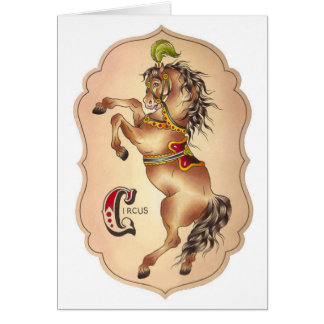 Circus Horse Card