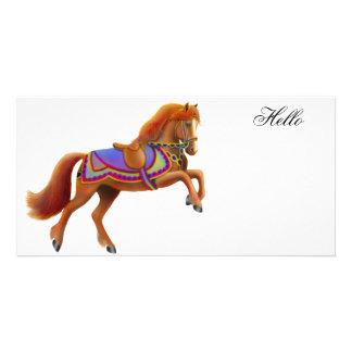 Circus Horse Photo Card