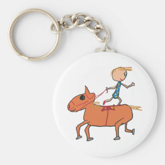 Circus Horse Riding Keychain