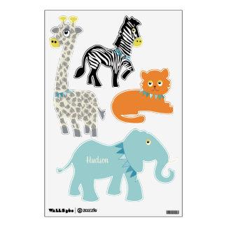 Circus Jungle Giraffe Zebra Tiger Elephant Wall Sticker