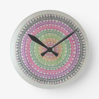 Circus Lights Round Clock