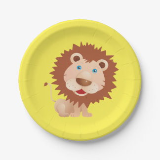 Circus Lion Birthday Party Paper Plate