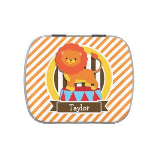 Circus Lion; Orange & White Stripes