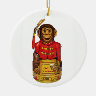 Circus Monkey Ceramic Ornament