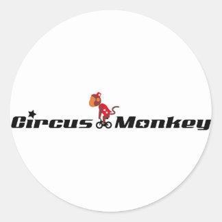 Circus Monkey Classic Round Sticker