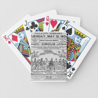 circus nebraska Circus Bicycle Playing Cards