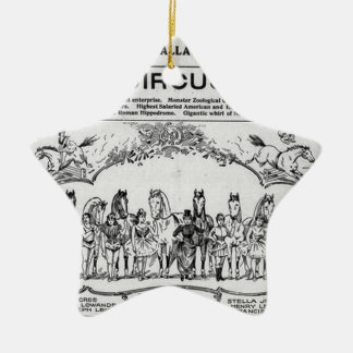 circus nebraska Circus Ceramic Star Ornament