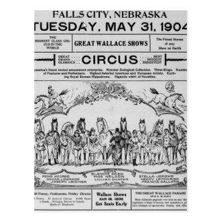 circus nebraska Circus Postcard