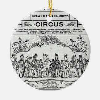 circus nebraska Circus Round Ceramic Ornament