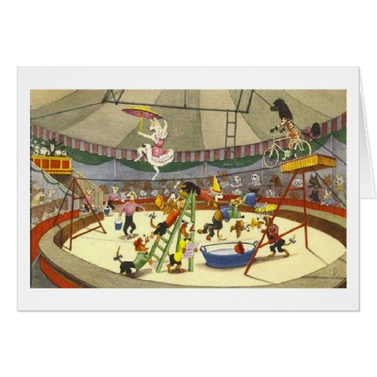 Circus of Dogs Card