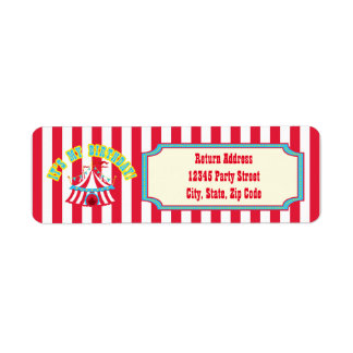 Circus or Carnival Address Labels