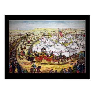 Circus parade postcard