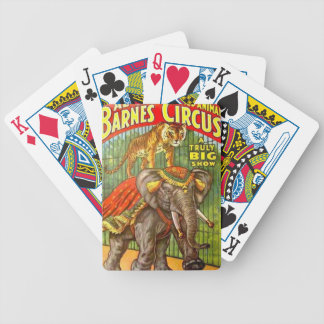 Circus Poster Bicycle Playing Cards
