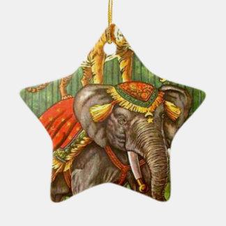 Circus Poster Ceramic Ornament