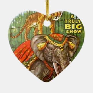 Circus Poster Ceramic Ornament
