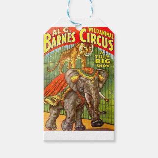 Circus Poster Gift Tags