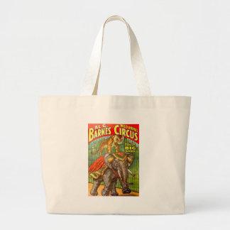 Circus Poster Large Tote Bag