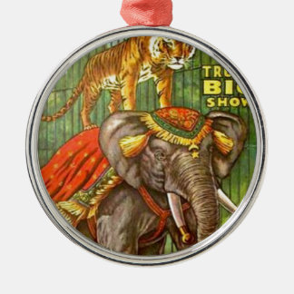 Circus Poster Metal Ornament