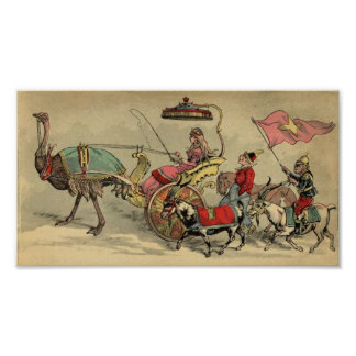 Circus Procession Animals Poster