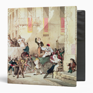 Circus Procession in Italy, 1830 Vinyl Binder