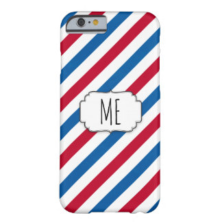 Circus Red and Blue Strips - IPhone Case