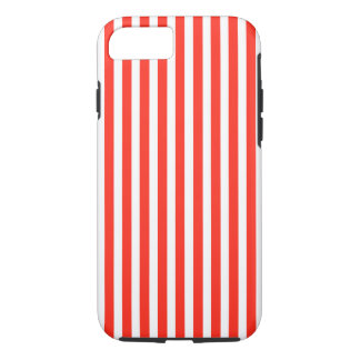 Circus Red and White Cabana Stripes iPhone 8/7 Case