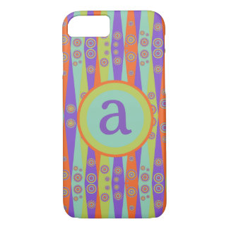 Circus Ribbons Monogram iPhone 8/7 Case