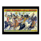 Circus Riders Vintage Theatre Poster Postcard