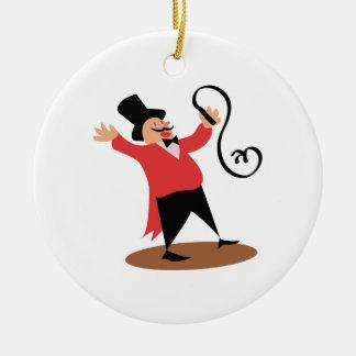 Circus Ringmaster Ceramic Ornament
