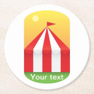 Circus Round Paper Coaster