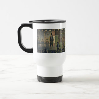 Circus Sideshow by Georges Seurat 1887 Stainless Steel Travel Mug